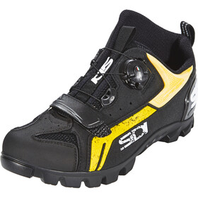 Sidi MTB Defender kengät Miehet, black/yellow